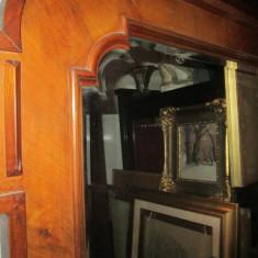 Oglinda cristal veche rama Art Deco, antica
