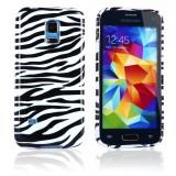 Husa silicon Samsung Galaxy S5 mini+ folie ecran si cablu date cadou, Alb