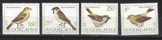 JUGOSLAVIA 1982, Fauna - Pasari, serie neuzata, MNH foto