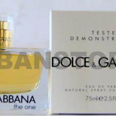 Parfum Tester Dolce Gabbana The One + Livrare Gratuita in toata tara ! - Parfum femeie Dolce & Gabbana, Apa de parfum, 75 ml, Oriental