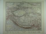 HARTA VECHE - ASIA CENTRALA - DIN STIELERS HAND ATLAS - ANUL 1928