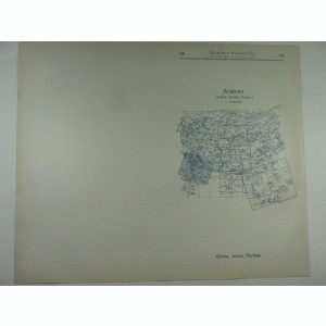 HARTA VECHE - ARABIA - DIN STIELERS HAND ATLAS - ANUL 1928