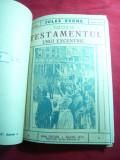 Jules Verne - Testamentul unui Excentric ,vol.1 si 2 ,interbelic ,trad.Th.Roman