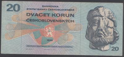 Cehoslovacia 20 korun 1970 aUNC foto