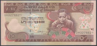 Ethiopia 10 birr 2006 UNC foto