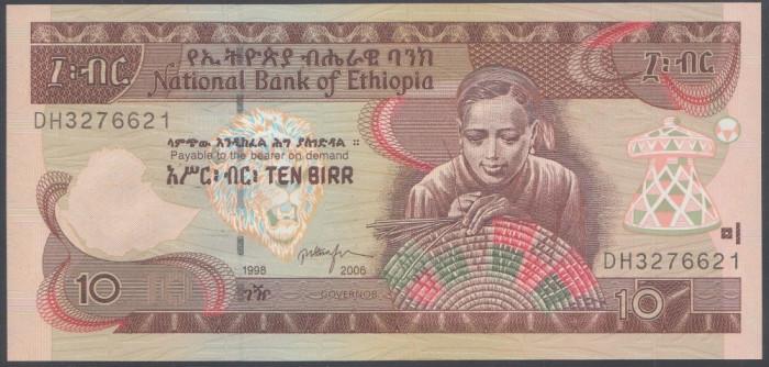 Ethiopia 10 birr 2006 UNC