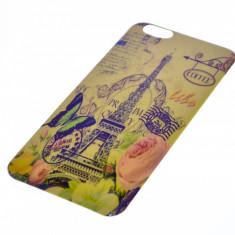 Husa din soft silicon pentru iPhone 6 plus 5.5  si folie de sticla Tempered Glass