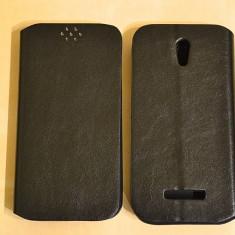 Husa Alcatel POP S7 OT-7045 Flip Case Slim Black - Husa Telefon Alcatel, Negru, Piele Ecologica, Cu clapeta, Toc