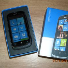 Telefon Nokia Lumia 610 - Telefon mobil Nokia Lumia 610, Negru, Orange