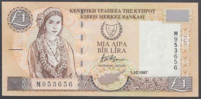 Cipru 1 lira 1997 UNC foto