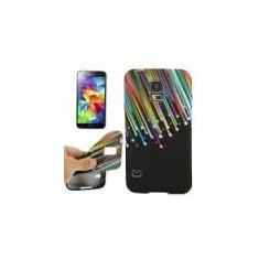 Husa silicon Samsung Galaxy S5 Mini G800 + folie protectie ecran + expediere gratuita Posta - sell by PHONICA - Husa Telefon Samsung, Negru