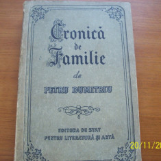 cronica de familie- petru dumitriu editia I an 1955