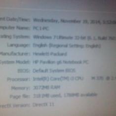 Laptop HP Pavilion g6, HDD