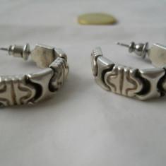 Cercei argint VECHI vintage Robusti Eleganti Frumosi Patina minunata - Bijuterie veche