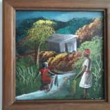 AFRICA - ulei pe placaj (autor necunoscut) - Tablou autor neidentificat, Peisaje, Art Nouveau