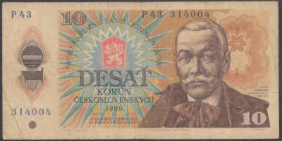 Cehoslovacia 10 korun 1986 VF- foto