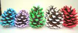 Conuri brad colorate, set 10 buc diverse culori la alegere, decor Craciun