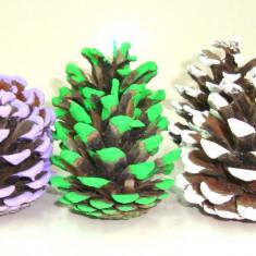 Conuri brad colorate, set 10 buc diverse culori la alegere, decor Craciun - Ornamente Craciun