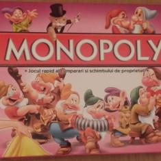 Monopoly Alba ca Zapada si cei 7 pitici Limba Romana, 8-10 ani, Unisex
