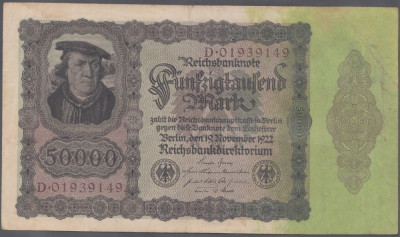 Germania 50000 Mark 1922 VF foto