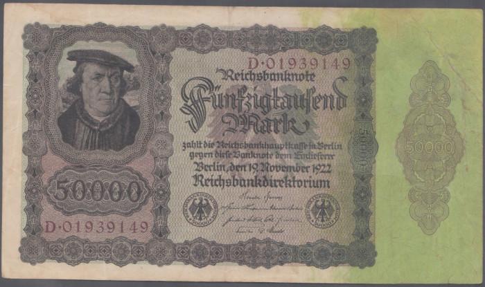 Germania 50000 Mark 1922 VF