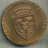 ATAM2001 MEDALIE 540 - CAMERELE DE COMERT DIN ROMANIA -150 DE ANI DE ISTORIE - 1850-1864-1990- PACE -PROSPERITATE-PROGRES -SNRS BRAILA -starea se vede - Medalii Romania