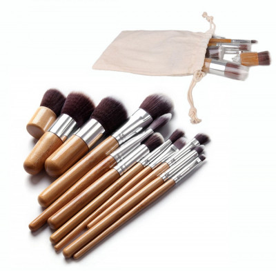 Set 11 Pensule Make Up Kabuki + Fond de Ten + Ochi foto