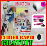 KIT UNGHII FALSE SET GEL UV MANICHIURA LAMPA, PILA , ASPIRATOR ,GELURI CCN
