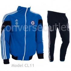 Trening ADIDAS CHELSEA LONDRA - Bluza si Pantaloni Conici - Pret Special - - Trening barbati, Marime: S, XL, Culoare: Bleu