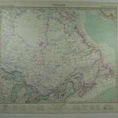 HARTA VECHE - CANADA DE EST - DIN STIELERS HAND ATLAS - ANUL 1928