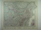 HARTA VECHE - S.U.A - STATELE DIN NORD EST - DIN STIELERS HAND ATLAS ANUL 1928