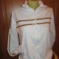 Bluza alba cu paiete aurii, M/L, Maneca lunga, Alb