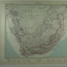HARTA VECHE - AFRICA DE SUD - DIN STIELERS HAND ATLAS - ANUL 1928