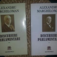 A. Marghiloman DISCURSURI PARLAMENTARE 2 volume Ed. Machiavelli set complet - Istorie
