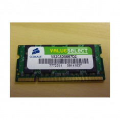 Memorie laptop 2GB DDR2 Corsair ValueSelect VS2GSDS667D2 - Memorie RAM laptop