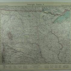 HARTA VECHE - S.U.A - STATELE DIN NORD - DIN STIELERS HAND ATLAS ANUL 1928