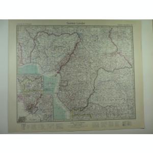 HARTA VECHE - GUINEA - DIN STIELERS HAND ATLAS - ANUL 1928