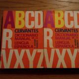 Cervantes * DICCIONARIO MANUAL de la LENGUA ESPANOLA  ---  F. Alvero Frances  -- 2 volume, 1976,  932 p.