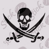 Skull_Sticker Decorativ_Auto-Moto Cod: DIV-285  -  Orice culoare, Orice model pe comanda