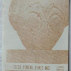 EUGEN IONESCU/EUGENE IONESCO - ELEGII PENTRU FIINTE MICI (Jurnalul Literar 1990) - Carte poezie