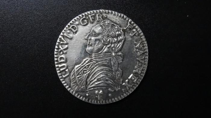 Placheta France, Louis XVI - posibil argint placat 7,5 cm diametru