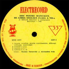 Editura didactica si pedagogica Bucuresti_Alexandru Fole_Manina Tarnovski - Disc Pentru Manualul De Limba Engleza Clasa A VII-a (Vinyl) - Muzica soundtrack electrecord, VINIL