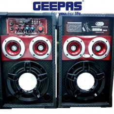 PROMOTIE BLACK FRIDAY! 2 BOXE ACTIVE CU MIXER ,MP3 PLAYER USB,RADIO FM,AFISAJ LCD,200 WATT P.M.P.O+2MICROFOANE +LUMINA DISCO BONUS!