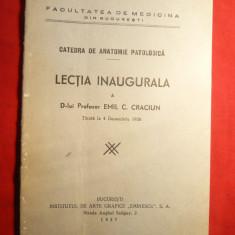 Prof.Emil C.Craciun - Lectia Inaugurala - Catedra Anatomie Patologica 1936