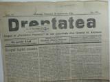 ZIARUL DREPTATEA - CERNAUTI 26 SEPT 1926 -  AL PARTID. POPOR. AL GEN. AVERESCU