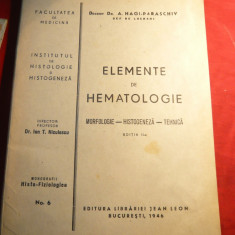 Dr.Doc.A.Hagi-Paraschiv - Elemente de Hematologie - Ed.IIa- 1946