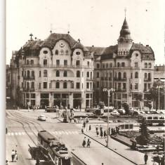 CPI (B4469) ORADEA. PIATA VICTORIEI, EDITURA MERIDIANE, CIRCULATA, 1969, STAMPILA - Carte Postala Crisana dupa 1918, Fotografie