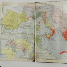Atlas istoric german , circa 1919 - 1920, harti vechi, harti istorice