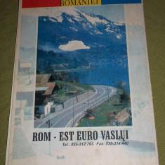 harta rutiera Romania (Rom - Est Euro Vaslui, anii '90)