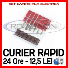 SET CAPETE PILA ELECTRICA - MANICHIURA UNGHII FALSE GEL UV, FRENCH - PRET MINIM - Ustensile Sina